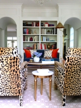 Leopard Print Chairs Interior Decor Living Room