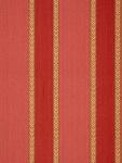 Schumacher Wallpaper Bayberry Stripe - Antique Red Pink Gold 203863