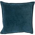Surya Cotton Teal Throw Pillow cv004