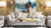 Gold Trellis Wallpaper Interior Decor