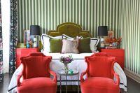green and red bedroom stripe wallpaper summer thornton design