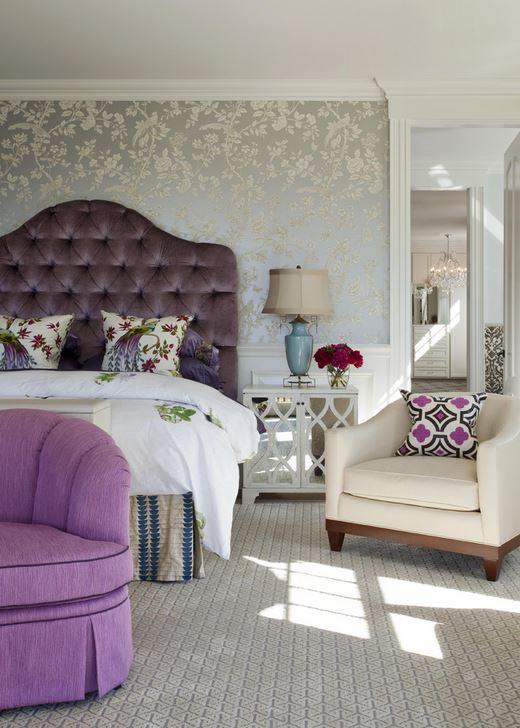 velvet tufted headboard bedroom interior decor