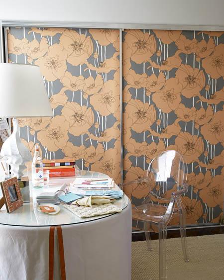bold floral wallpaper on closet doors unique decorating ideas melissa warner