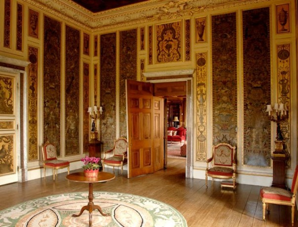 Downton Abbey Interior Decor Behind the Set Music Room highclere Castle