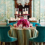 gorgeous chinoiserie dining room