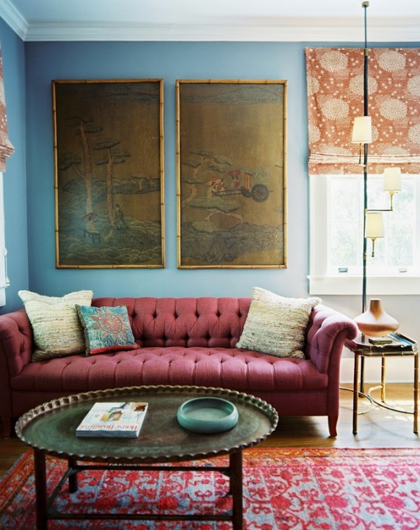 turquoise with marsala color of the year pairing