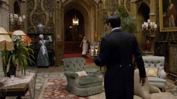 Downton Abbey Interior Decor Saloon Behind the Set