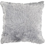 Surya Faux Fur Grey Throw Pillow sco306