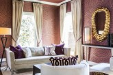 Textured Marsala Interior Decor Grasscloth Wallpaper Schumacher Imperial Trellis