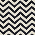 Schumacher Antibes Chevron Jet Fabric