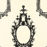 Schumacher Go Baroque Noir & Blanc Wallpaper