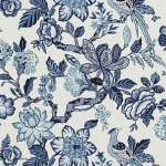 Schumacher Huntington Gardens Bleu Marine Fabric