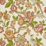 Schumacher Huntington Gardens Coral Fabric