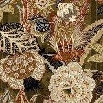 Schumacher Zanzibar Linen Print Sandalwood Fabric