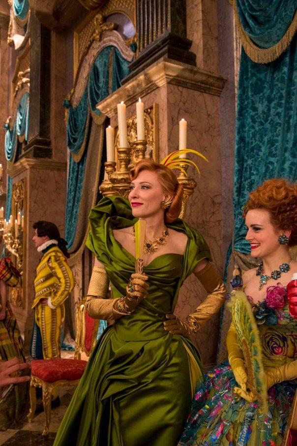 CINDERELLA green dress traditonal decor emerald step mother
