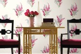 Floral Pink Wallpaper Interior Design Decor