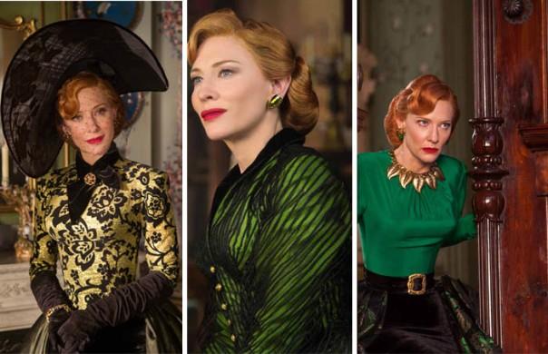 Kate Blanchett Evil Step Mother Cinderella Movie 2015 Disney Fashion Gree Dress