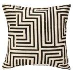 Peking Handicraft Mira Mesa Embroidered Pillow Down Fill
