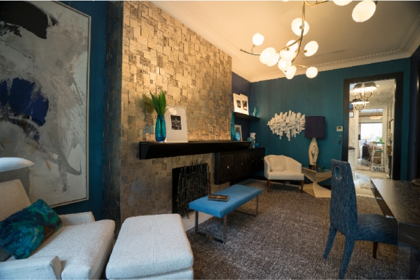 Kips Bay Decorator Show House 2015 - Charles Pavarini Midnight Manhattan Lounge