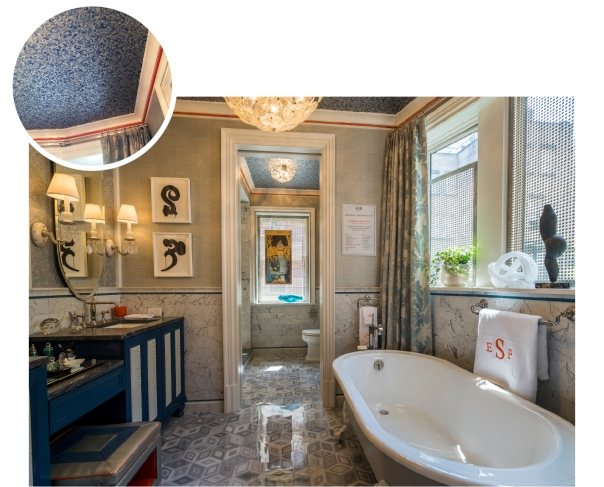 Bathroom by Peter J Sinnott at Kips Bay Decorator Show House 2015