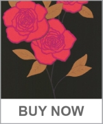 Cole and Son PAPER ROSES FUSCHIA ONYX Wallpaper