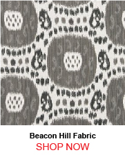 Beacon Hill Shara Ikat Black and White Fabric