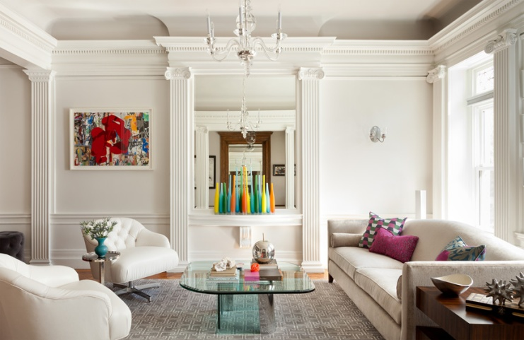 White Living Room In Brooklyn Brownstone By Audra Canfield Interiors