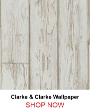 Clarke & Clarke Peeling Planks WP White Wallpaper