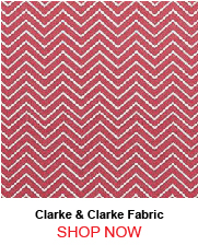 Clarke & Clarke Creek Red Fabric 190719