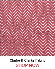 Clarke & Clarke Creek Red Fabric 190719