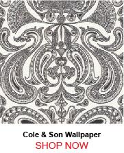 Cole and Son Malabar White Black Wallpaper
