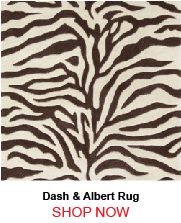 Dash and Albert Zebra Tufted Wool Rug 187101