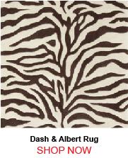 Dash and Albert Zebra Tufted Wool Rug 187101