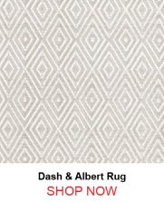 Dash and Albert Diamond Platinum White Indoor Outdoor Rug