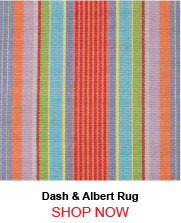 Dash and Albert Garden Stripe Woven Cotton Rug
