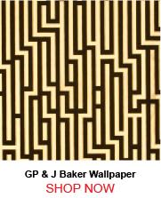 GP and J Baker BW45013 Fretwork Foil Black Gold Wallpaper