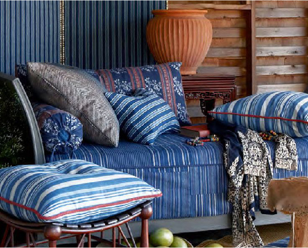 Ralph Lauren Indigo Isle Fabric Collection