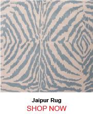 Jaipur Zebra Ikat Blue White Rug