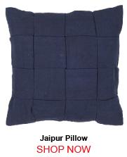 Jaipur Tab01 Tabby Solid Blue Pillow 263327