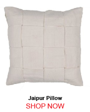 Jaipur Tab03 Tabby Solid 01 Ivory White Pillow