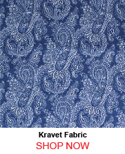 Kravet STENCIL PAISLEY DENIM Fabric
