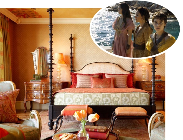 Inspired by the Sand Snakes of Game of Thrones - Orange Moroccan bedroom