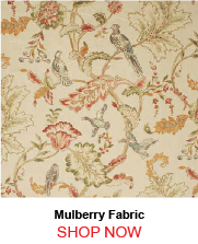 Mulberry Early Birds Ivory Fabric