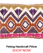 Peking Handicraft Anza Magenta Embroidered Down Filled Pillow 1763351