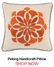 Peking Handicraft Bahir Embroidery Pillow