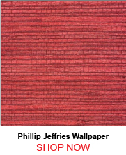 Phillip Jeffries 4818 Juicy Jute Grasscloth Chinese Red Wallpaper 208080