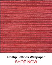 Phillip Jeffries 4818 Juicy Jute Grasscloth Chinese Red Wallpaper 208080