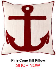 Pine Cone Hill Fresh American Admiral Red Ivory Indoor Outdoor Pillow 20x20 205939