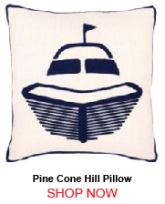 Pine Cone Hill Fresh American Boat Navy Indoor Outdoor Pillow 20x20 205941