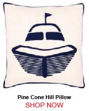 Pine Cone Hill Fresh American Boat Navy Indoor Outdoor Pillow 20x20 205941